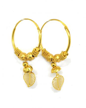 Gold Plated Heart Shape Bali Earring