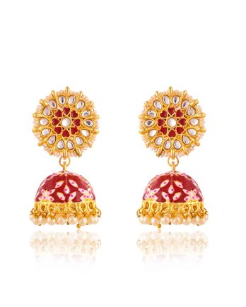 Beautiful Meenakari Jhumka Earrings