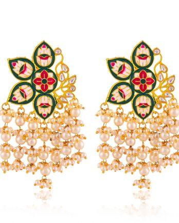 Beautiful Contemporary Jhumka Earrings with Pearls