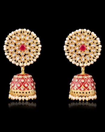 Beautiful Meenakari Dangle Jhumka Earrings