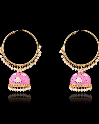Beautiful Lotus Dangle Jhumka Earrings