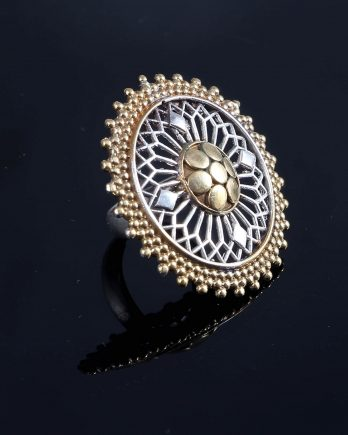 Classic Silver and Gold Plated Ring