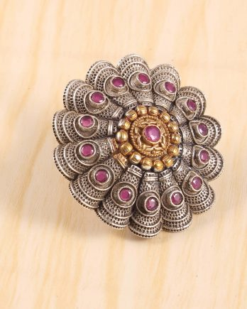 Beautiful Big Size Floral Shape Ring