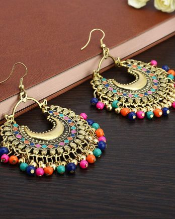 Beautiful Colorful Gold Plated Earring For Girls