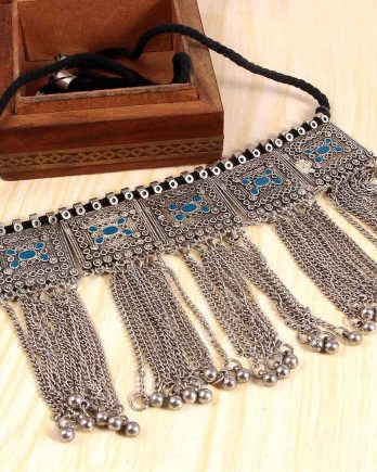 Oxidized Boho Choker Necklace for Girls and Women