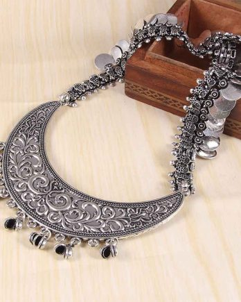 Oxidized Long Handcrafted Necklace for Girls and Women