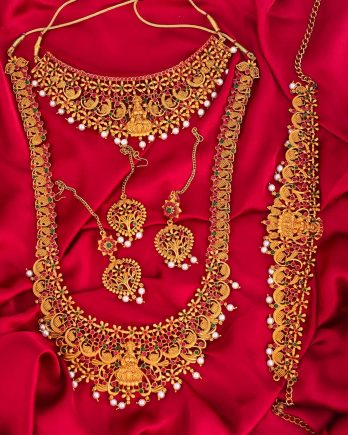 Traditional Indian Gold Plated Bridal Jewelry Set