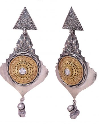 Gold and Silver Plated Long Earring