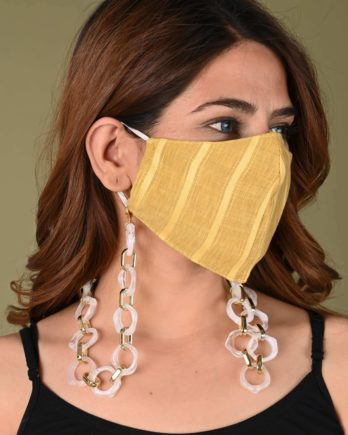 Locomotive Mask Chain (White and Gold)-Foxiie-Trends