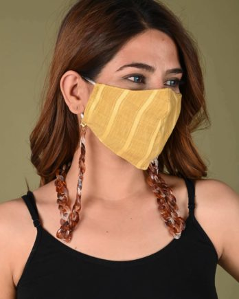 Locomotive Mask Chain (White and Brown)