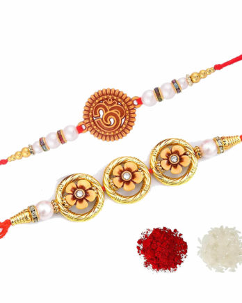 Beautiful Om and Floral Rakhi For Brother