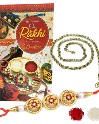 Floral Rakhi Gift Combo For Brother